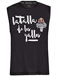 Red Bull Camiseta Batalla de los Gallos Original Ropa de Hombre sin Mangas en Negro Hip