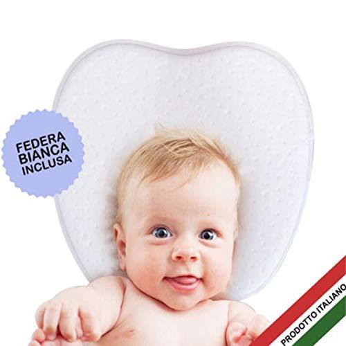 MACLA Cuscino Bimbi Auto Viaggio Letto Lettino Culla Neonati e con Buco Plagiocefalia Protezione e Cura Della Testa Piatta Bambino...