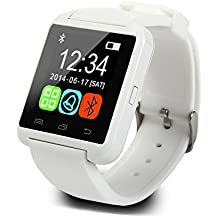 Wildguarder SmartWatch Bluetooth reloj inteligente U8 reloj de pulsera digital Sport Watches para iOS Android dispositivo electronico portatil (Blanco)