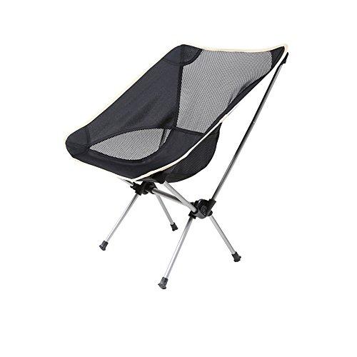 LJHA Klappstuhl Outdoor Portable Beach Chair Reise Outdoor Hocker Schwarz 58 * 55 * 67 cm Stühle