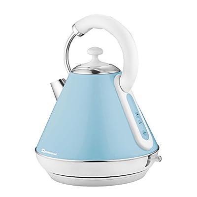 Bouilloire électrique sans fil, ébullition rapide, 2200W 1.8L - Bleu clair
