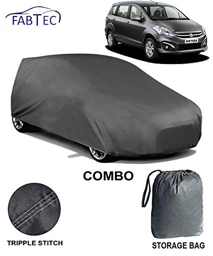 Fabtec Heavy Duty Car Body Cover for Maruti Ertiga with Microfiber Glove & Car Air Freshener Combo!