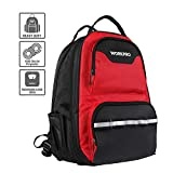 WORKPRO Tool Backpack, Heavy Duty Jobsite Tool Bag, 42-Pocket Tool Rucksacks with Waterproof