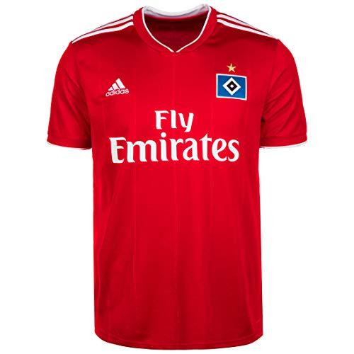adidas Herren Hamburger SV Away Kurzarm Trikot Scarlet/White S