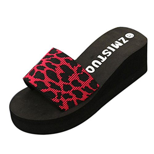 OYSOHE Damen Hausschuhe,Sommer Frauen Rutschfest Schuhe Plattform Bad Hausschuhe Wedge Beach Slope Flops Schuhe (Lack-plattform)