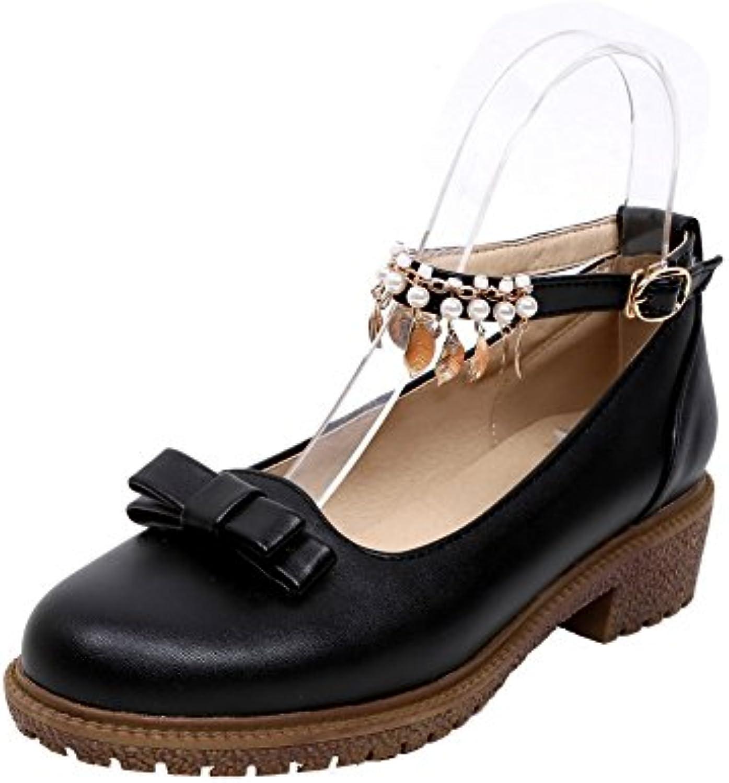 agoolar talons bas les femmes boucle de solides chaussures chaussures chaussures b07cwljcc6 cycle fermé parents tep cour 51c622