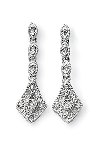 Elements Damen-Ohrringe 9 Karat Weißgold Diamant Ohrringe der Höhe: 1,95 cm Preisvergleich
