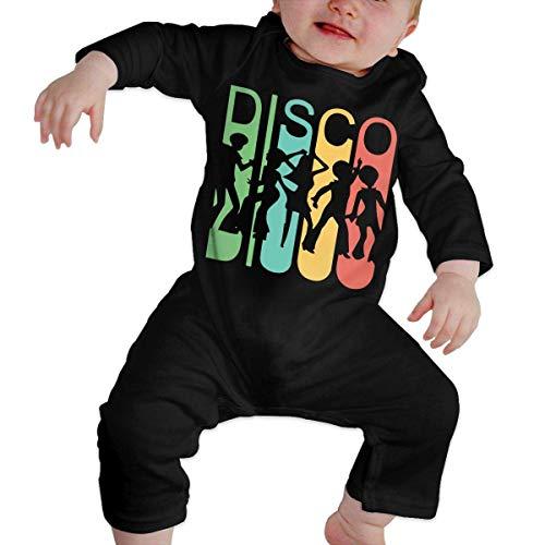 Baby Boys Printed Vintage Retro 1970's Style Rainbow Disco Dancers Bodysuit Jumpsuit Outfits