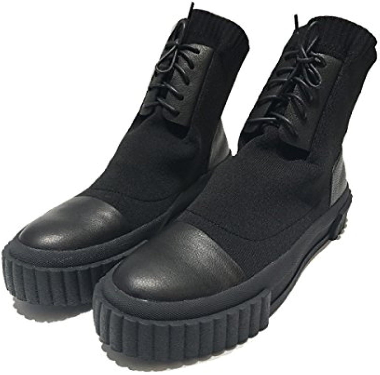 NBWE Botas Cortas Negras Personalizadas Calcetines De Punto De Los Hombres Calzados Informales,43  -