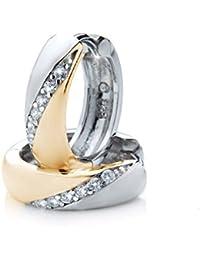 Silvity-Creolen 925 Sterling Silber Diamant-Strass 1.5 x 1.5 cm 307906-20