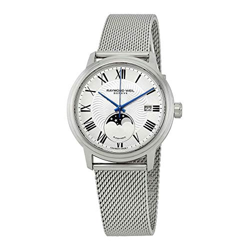 Raymond Weil maestro automatico orologio, 40mm, giorno, fasi lunari, 2239m-st-00659