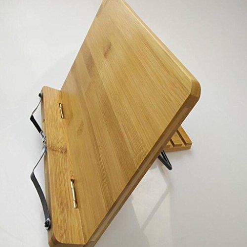 Bookshelf 34 * 24cm Libros de lectura ajustables de bambú