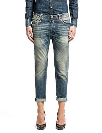 Replay Damen Boyfriend Jeans Leena, Gr. W28, Blau (BLUE 9)
