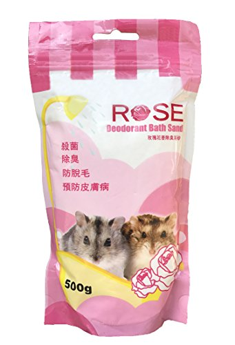 Bath Sand for Hamster / Dwarf / Gerbil / Chinchilla / Mice (500 Grms) (Rose Fragrance)