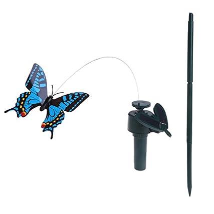 Autone gatto giocattolo farfalla uccello–energia solare elettrico rotante simulazione farfalla colibrì Pet giocattoli divertenti