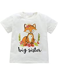 0-18 Monate Kleine Schwester Onesie Baby Outfit Shirt für große Schwester Alter 1-6 von Bornbayb