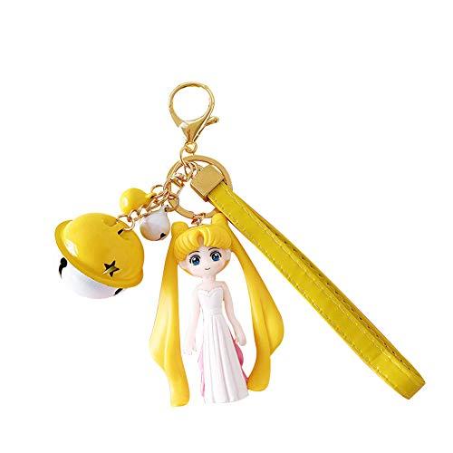 Cosplay Mini Sailor Kostüm Moon - ALTcompluser Sailor Moon Hatsune Miku Karabiner Schlüsselanhänger Schlüsselbund Mini PVC Figur Anhänger, Dekoration für Tasche/Rucksack(Stil 6)