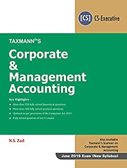 Libro PDF Gratis Corporate & Management Accounting(CS-Executive)(June 2019 Exam-New Syllabus)(January 2019 Edition)