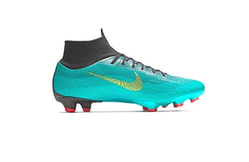Nike Unisex-Kinder Junior Superfly VI Academy CR7 MG Fußballschuhe, Türkis (Clear Jade/Mtlc Vivi 390), 34 EU