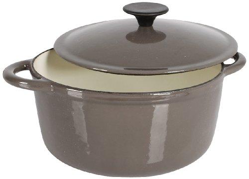 Crealys 513359 - Cocotte redonda en hierro fundido, 21 cm