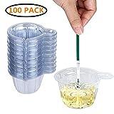 Urinbecher 100 Stück Urinprobenbecher 40ml Einweg-Urinprobenbecher aus Kunststoff für Ovulationstest/Schwangerschaftstest / pH-Test Klar von PPX