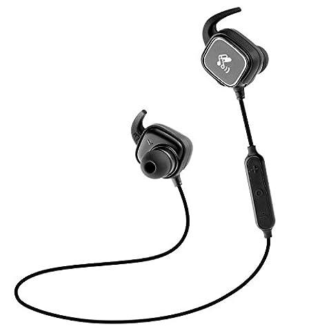 SoundPEATS Q20 Bluetooth 4.1 Kopfhörer mit Mikrofon geeignet für Sport & Laufen, aptX, Magnetkontrolle, CVC 6.0, drahtloser Bluetooth-Kopfhörer für alle Bluetooth-fähige Geräte