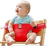 Lychee Trona Portatil de Viaje para Bebe Tronas para Sillas Ideal para comer fuera/Viajes/Inicio/Restaurantes/Compras (Rojo)