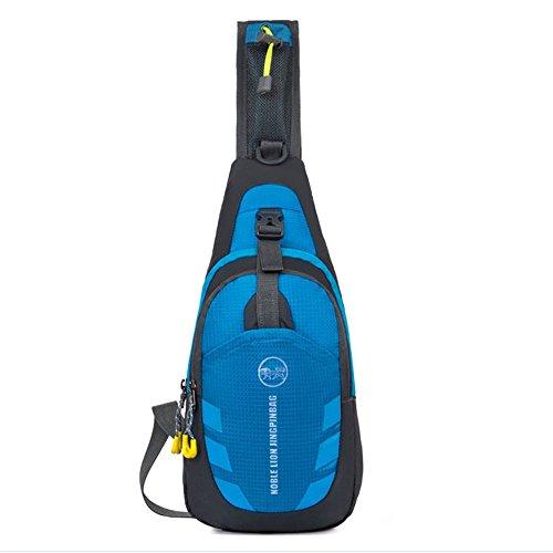 Maleden - Zaino monospalla impermeabile e anti graffio per ciclismo, corsa, arrampicata e viaggio, Blue