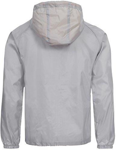 Übergangs Jacke | Regenjacke | Windbreaker für Herren Baxter von Geographical Norway - modische Funktions-Jacke mit Kapuze Grau