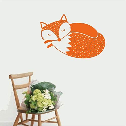 ox Wandtattoo, Sleepy Fox Wandaufkleber Für Kinderzimmer Kinderzimmer Wandkunst Dekor Vinyl Aufkleber Muraux 3 80 * 56 cm ()