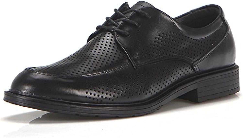 NBWE Zapatos de Cuero con Cordones de Verano para Hombres Sarga de Cuero Real Breathable Business Security Zapatos... -