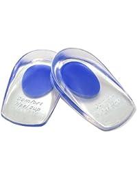 Gel talon coussin – C foot en silicone médical Rembourrage Talon éperon calcanéen Gel Coussin geleinlagen Talon appuie-tête Tendon d'Achille Heel, bleu, Gr.40-45
