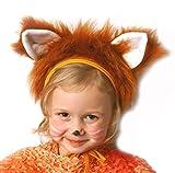 SIA COLLA-S Faschingskostüm Fuchs Mütze mit Ohren Kinderkostüm Kappe Hut Fuchs Karneval Kostüme für Kinder Festtage Größe S/M Weihnachten Geschenk