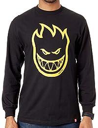 Spitfire Camiseta de Manda Larga Bighead Negro-Amarillo-Oro 03d4c3ce2e9d4
