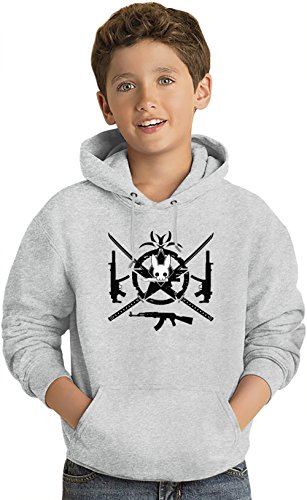 Army assasins logo Kinder Leicht Kapuzenpullover Lightweight Hoodie For Kids | 80% Cotton-20%Polyester| 14-15 yrs (Kanji-kinder Hoodie)