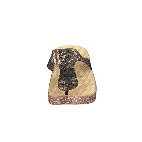 Donne Da Elba Con Mobili Il Casual Le A Fogli Decorativo E Siebis Scarpe Di Bagno Bronzo Per Flop OE6wpqd