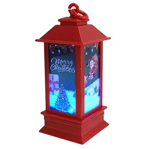Alwayswin Weihnachten Beleuchtetes Nachtlicht Weihnachtsbaum Hängelampe Atmospheres Dekorative Requisiten Plastic Glowing Night Light House Weihnachten Dekoration Geschenk