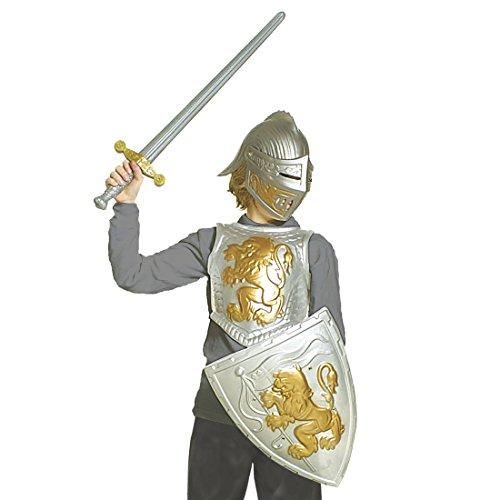 Imagen de armadura niños casco cartel de pecho medieval armadura caballero guerrero lucha equipo accesorios guerrero harnisch carnaval disfraz accesorio