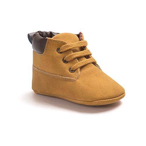 Baby Schuhe Für 0-18 Monate , Auxma Babyjungen weiche lederne Schuhaufladungen Prewalker Schuhe (11(0-6M), Khaki)