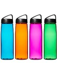 Botella transparentes Tritan de Laken 750ml Classic, naranja, 750 ml
