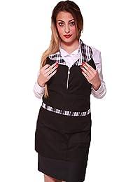 Fratelli ditalia Grembiule zip donna sala albergo hotel cameriera barista  lavoro bar ristorante 8ce1449ffd24