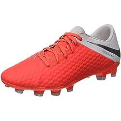 Nike Hypervenom 3 Academy FG, Zapatillas de Deporte Unisex Adulto, (Lt Crimson/Mtlc Dark Wolf Grey 600), 44 EU