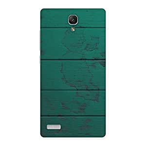 Stylish Green Wood Texture Print Back Case Cover for Redmi Note