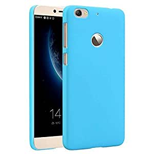 DRaX (TM ) Rubberised Matte Hard Case Back Cover For Microsoft Lumia 640 Sky Blue