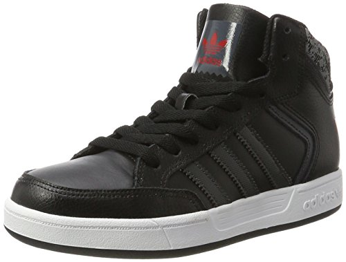 adidas Varial Mid, Montantes Homme Noir (Core Black/Dgh Solid Grey/Scarlet)