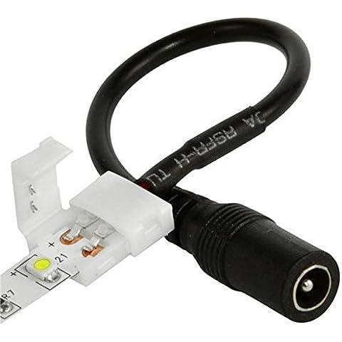 Bazaar Conector de alimentación del barril femenino sin soldadura de 8mm 3528 LED tira de luz