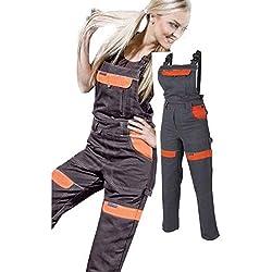 Les femmes salopettes travail pantalons dames et filles Pantalon de travail Salopette pantalon de de jardinage , combinaison 38 EU