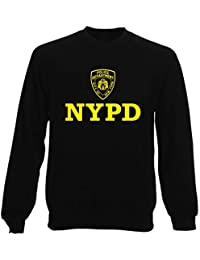 Sudadera por Hombre Negro DEC0233 NYPD Police Department City of New York 85188384f6a
