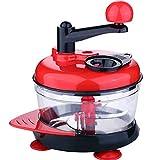 Manuelle Küchenmaschine Hobel Reibe Schneider Zitruspresse Schaumschläger Eidottertrenner mit griff Küche, die Werkzeuge kocht,Red