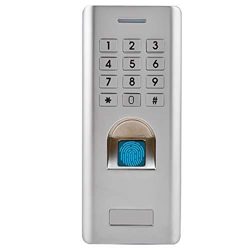 Fingerabdruck Zugangskontrolle, Metall Fingerprint Codeschloss Zutrittskontrolle, intelligent Zugangssystem Türöffner für Home Sicherheit